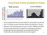 arraytrack freely available to public