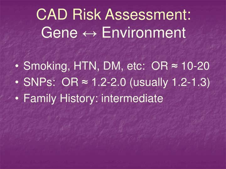 CAD Risk Assessment: