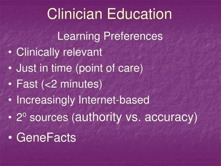 Clinician Education