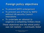 foreign policy objectives