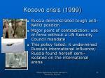 kosovo crisis 1999