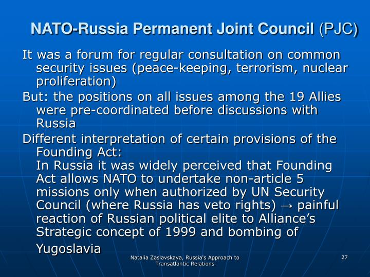 NATO-Russia Permanent Joint Council