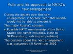 putin and his approach to nato s new enlargement