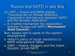 russia and nato in late 90s