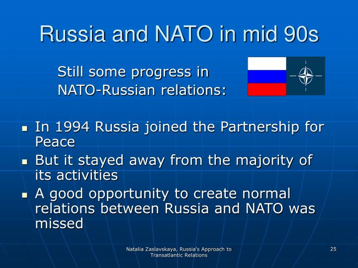Russia and NATO in mid 90s
