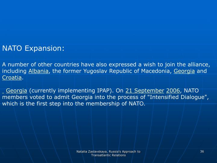 NATO Expansion: