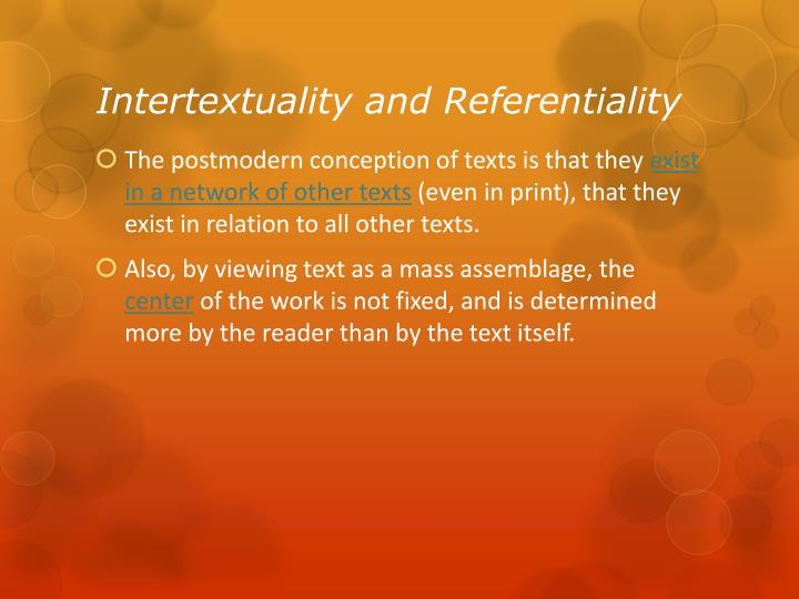 Intertextuality and Referentiality