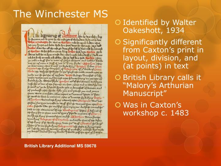 The Winchester MS