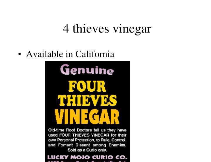 4 thieves vinegar