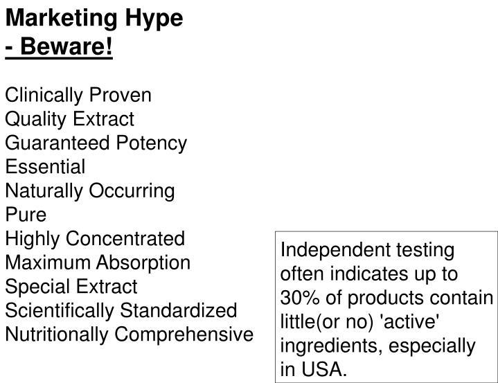 Marketing Hype