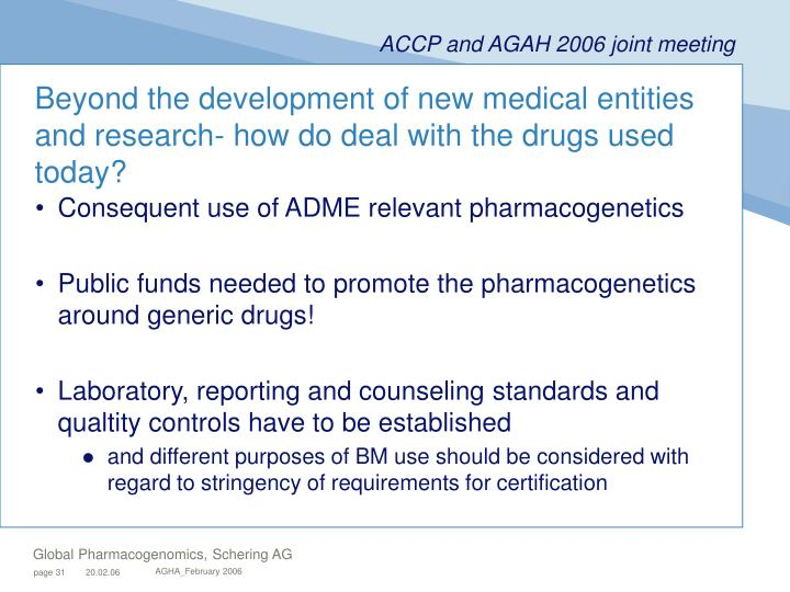 Beyond the development of new medical entities and research- how do deal with the drugs used today?