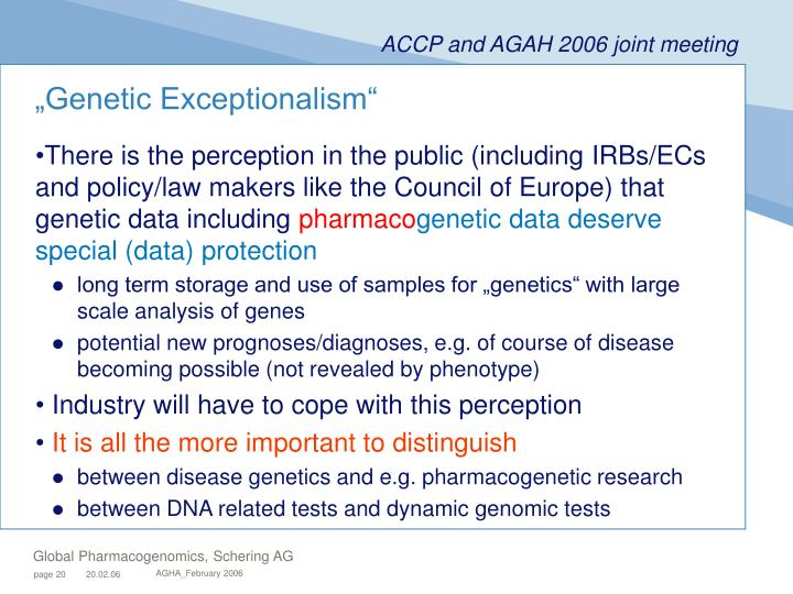 """Genetic Exceptionalism"""