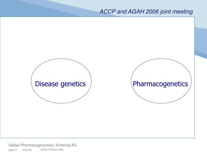 Disease genetics