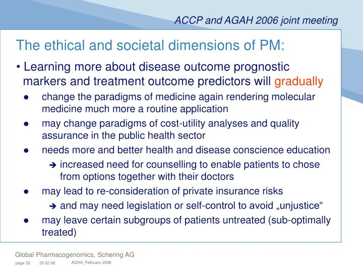 The ethical and societal dimensions of PM: