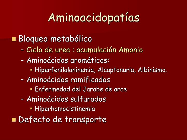 Aminoacidopatías