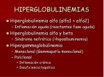 hiperglobulinemias
