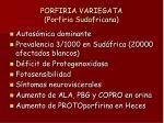 porfiria variegata porfiria sudafricana