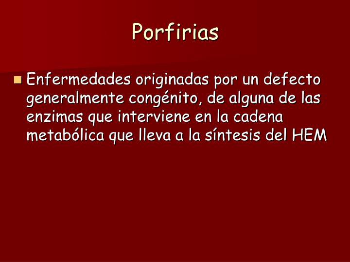 Porfirias