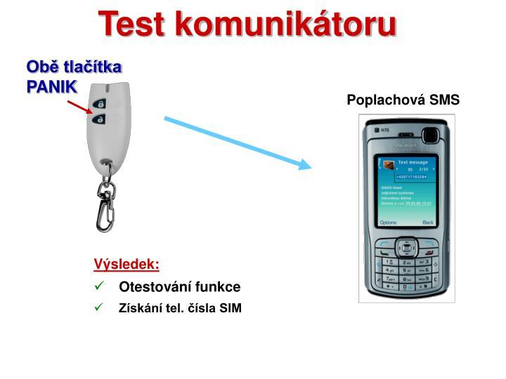 Test komunikátoru