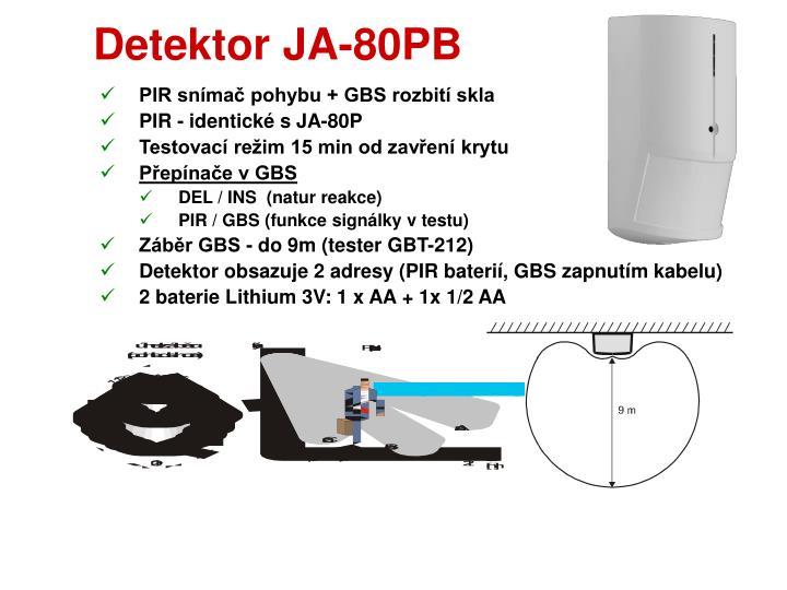 Detektor JA-80PB