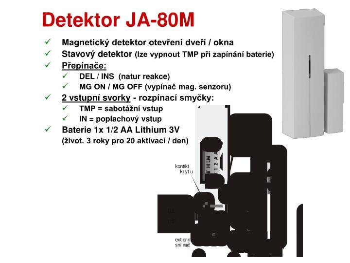 Detektor JA-80M