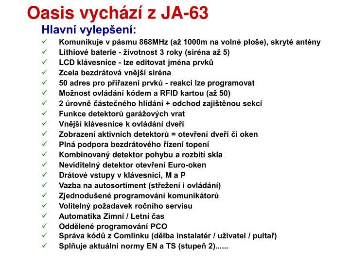Oasis vychází z JA-63