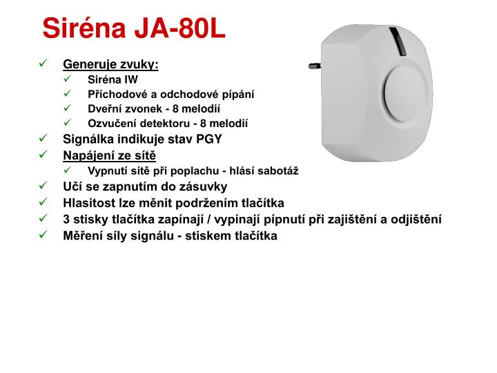 Siréna JA-80L