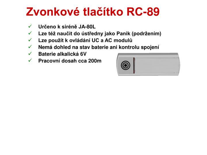 Zvonkové tlačítko RC-89