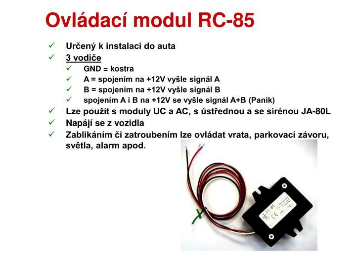 Ovládací modul RC-85