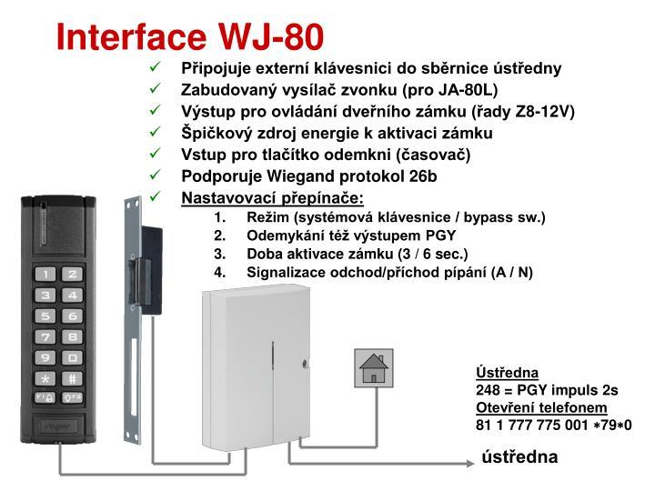 Interface WJ-80