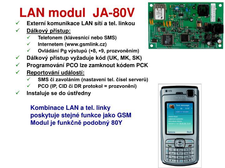 LAN modul  JA-80V