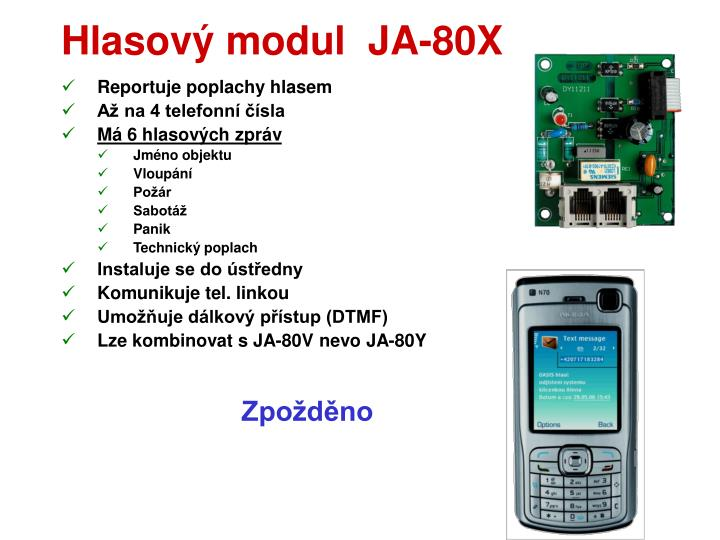 Hlasový modul  JA-80X