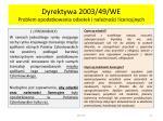 dyrektywa 2003 49 we problem opodatkowania odsetek i nale no ci licencyjnych