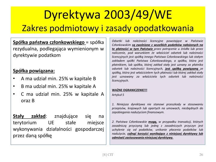 Dyrektywa 2003/49/WE
