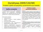 dyrektywa 2009 133 we problem sp ki europejskiej i przeniesienia jej siedziby