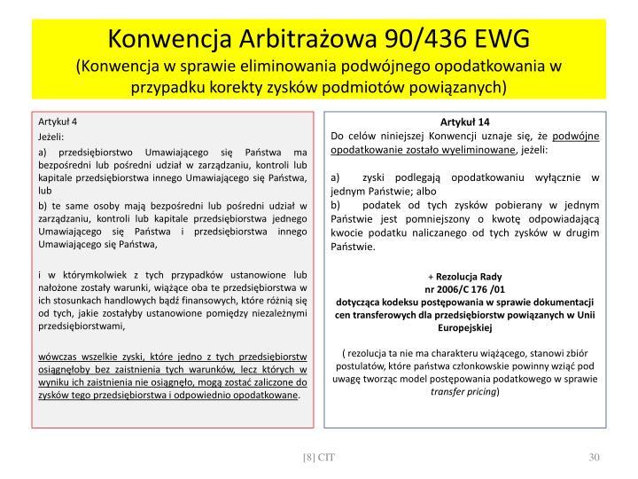 Konwencja Arbitrażowa 90/436 EWG