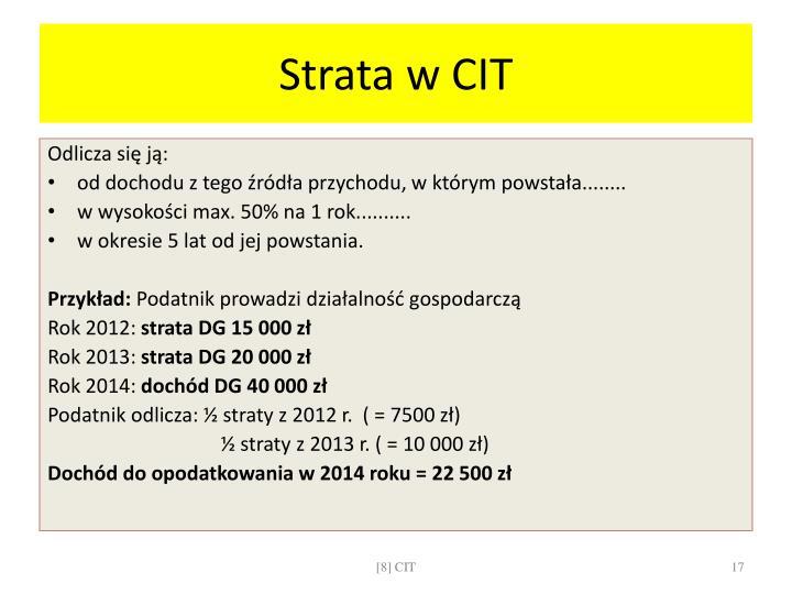 Strata w CIT