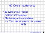 60 cycle interference