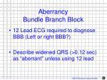 aberrancy bundle branch block