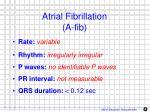 atrial fibrillation a fib