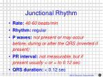 junctional rhythm