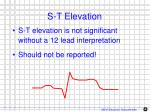 s t elevation