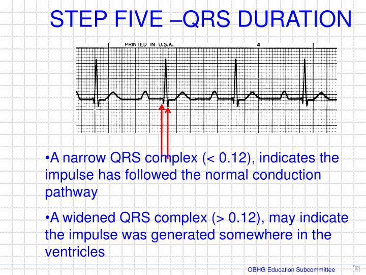 STEP FIVE –QRS DURATION