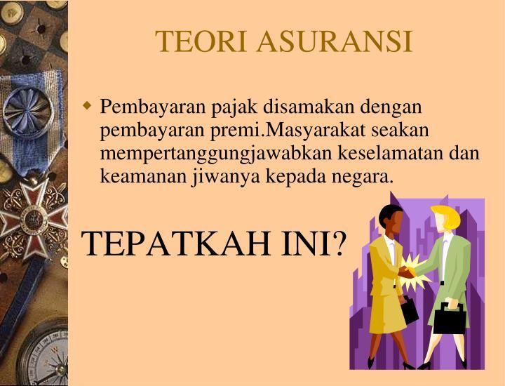 TEORI ASURANSI