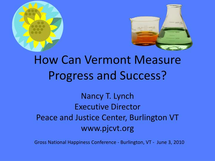How Can Vermont Measure Progress and Success?