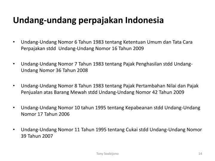 Undang-undang perpajakan Indonesia