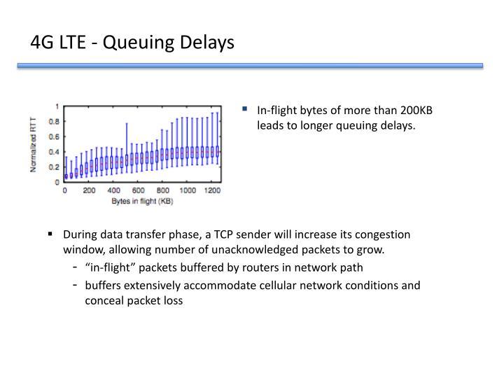 4G LTE - Queuing Delays