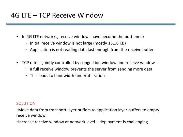 4G LTE – TCP Receive Window
