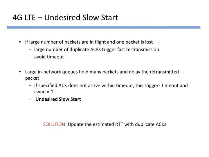 4G LTE – Undesired Slow Start