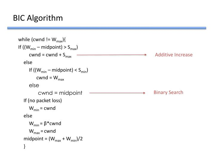 BIC Algorithm
